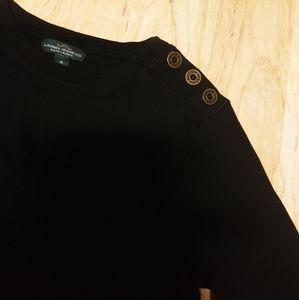 Nwot Ralph Lauren Army Buttoned Shoulder Crewneck